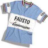 Fausto Coppi casual retro shirt   We ღ de koers!   Casual shirt geïnspireerd op het legendarische wielershirt van de Bianchi wielerploeg - 100% katoen Heren T-shirt M