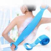 rubberen rug scrubber - lichaam scrubbed -  handdoek - douche - bad -