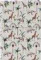 Cottonbaby ledikantlaken Jungledieren/Savanne 120x150 cm
