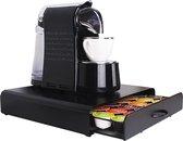 Zindoo - Luxe koffie standaard met lade - Koffiecapsule houder - Geschikt voor 36 koffie capsules - Espresso - Dolce Gusto - Capsule cups pad organizer - Coffee pod cuphouder dispenser - Koffiecapsulehouder - Antislip - Zwart - ZIN-CH01