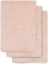 Jollein Washandjes hydrofiel Snake pale pink (3pack)