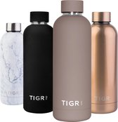 TIGR The Minimalist - Thermosfles in Roestvrij Staal RVS - Drinkfles - 500ML - Taupe