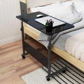 HN® Laptoptafel - Hout en Metaal - Zwart - Verstelbaar