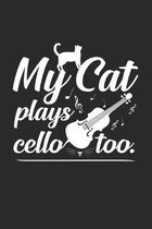 My cat plays cello too: 6x9 Cello - dotgrid - dot grid paper - notebook - notes