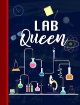 Lab Queen: Chemistry Graph Paper Notebook Quad Ruled 4 x 4 (0.25'') Graphing Paper Composition Book Gift for Math & Science Stude
