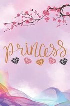 Princess: Cute Princess Notebook Journal Diary to write in - butterfly and hearts design