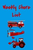 Weekly Chore List: Weekly Responsibilities Tracker