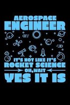 Aerospace Engineer It's Not Rocket Science Oh, Wait Yes It Is: 6x9 inch Dot Grid Paper, 110 Page Notebook
