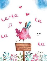 La-la la la la: Music notebook wide staff manuscript paper - 8.5x11 - 120 pages - 8 staves per page - easy to write on - perfect for l