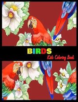 BIRDS Kids Coloring Book
