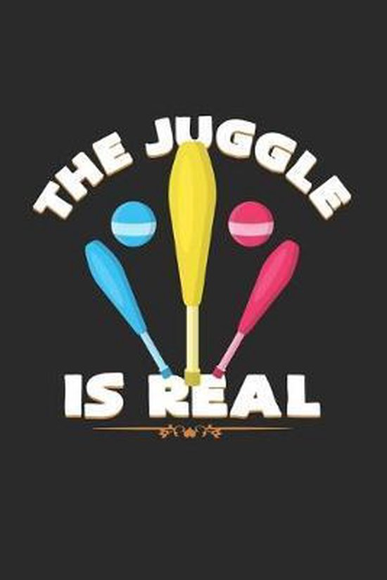 The juggle is real: 6x9 Juggling - dotgrid - dot grid paper - notebook - notes