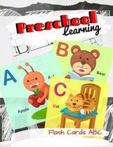 Preschool Learning Flash Cards ABC: ABC A Child's First Alphabet Book, Number Tracing Book for Preschoolers and Kids Ages 3-5 Trace Numbers Practice W
