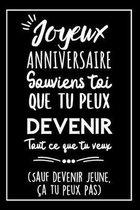 Heureux Anniversaire Carnet De Notes: Id�e Cadeau Anniversaire Pour Elle, Pour Lui, Original, Utile Et Humoristique Pour Souhaiter Un Joyeux Anniversa