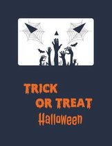 Trick or treat halloween: notebook halloween for the writing