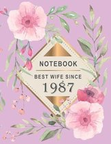 Notebook - Best Wife Since 1987