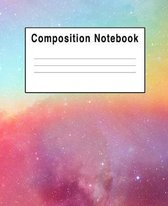 Composition Notebook: Rainbow Space Colorful