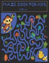 Maze book for kids age 4-8