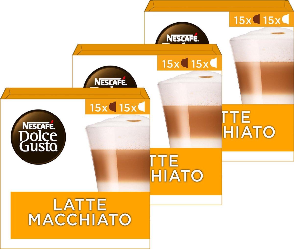 Nescafé Dolce Gusto capsules Latte Macchiato - voordeelverpakking - 90 koffiecups - geschikt voor 45