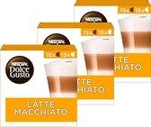 Nescafé Dolce Gusto capsules Latte Macchiato - voordeelverpakking - 90 koffiecups - geschikt voor 45 koppen koffie