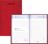 Brepols agenda 2021 - LUCCA - Breform - Rood - Leatherlook - 1d/1p - 6talig - 10 x 16,5 cm