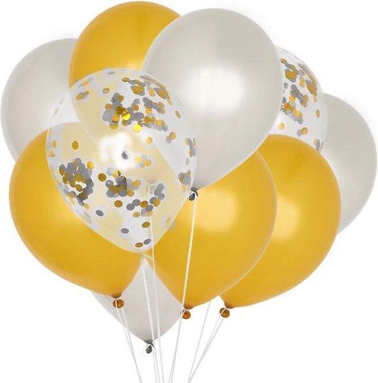 Ballonnenmix Zilver & Goud (10st) House of Gia
