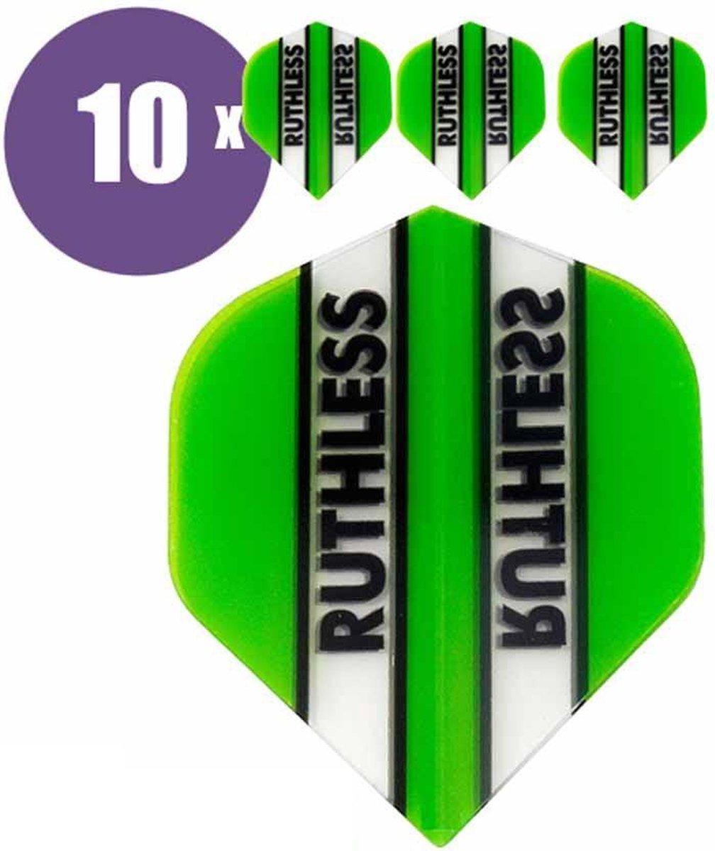 ABC Darts Flights - Ruthless Classic Groen - 10 sets (30 st.) Dart Flights