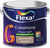 Flexa Creations Muurverf - Extra Mat - Kleur van het jaar 2021 - Brave Ground - 2,5 liter