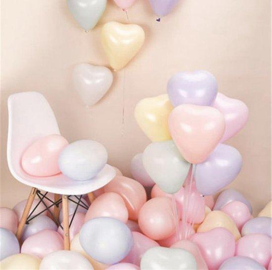 Harten Ballonnen Pastelkleuren | Effen - Pastel | 12 stuks | Baby Shower - Kraamfeest - Verjaardag - Geboorte - Fotoshoot - Wedding - Marriage - Birthday - Party - Feest - Huwelijk - Jubileum - Event - Decoratie | Luxe uitstraling | Kids - DH collect