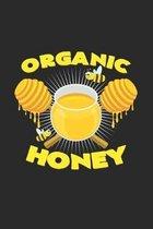 Organic honey: 6x9 Organic Food - dotgrid - dot grid paper - notebook - notes
