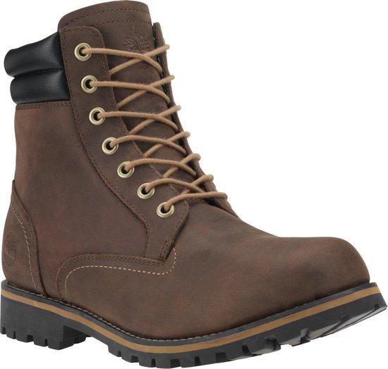 Timberland Foraker 6 Inch WP Heren Veterboots - Dark Brown - Maat 44
