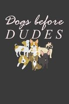 Dogs Before Dudes: Awesome Puppy Lover Pet Owner Gift