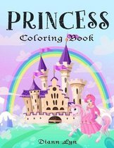 Princess Coloring Book: Coloring Book for Girls Ages 4-8
