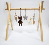 baby gym hout - baby gym speeltjes - baby gym - beer - beren set - hout - babygym