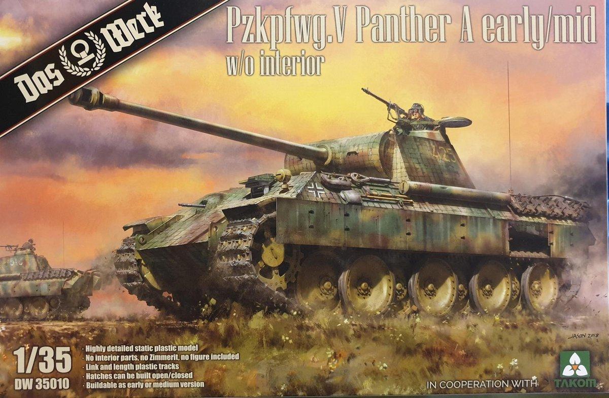 Tank Pzkpfwg. V Panther A early/mid - Das Werk - Takom modelbouw pakket 1:35