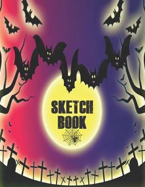 Sketchbook: Cute Halloween Gift Book, large 8.5 x 11in pages for drawing doodling sketching or making memories