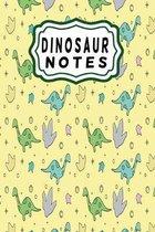 Dinosaur notes: Dinosaur notebook for boys and girls