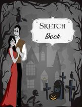 Sketch Book: Halloween - Sketchbook - Scetchpad for Drawing or Doodling - Notebook Pad for Creative Artists - Dancing Vampires