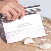 Deegsteker RVS - Deegschraper - Pizza mes - Deegkrabber - Groentesnijder - Keukenschraper - Deegsnijder - Cake & Taart Schraper