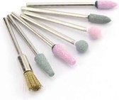 Keramische Frees - Nagel Frees - Keramische nagelboortjes - Pedicure en Manicure - Nagelfrees Bitje - Nagelboortjes - Keramische Nail Boren Set - 7 Stuks