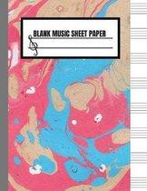 Blank Music Sheet Paper
