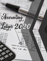 Accounting Ledger 2020: accounting ledger printable - Size 8.5 � 11 inch - simple accounts package