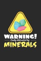 Warning distracted Minerals: 6x9 Minerals - dotgrid - dot grid paper - notebook - notes
