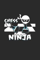 Chess ninja: 6x9 Chess - grid - squared paper - notebook - notes