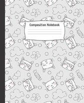 Composition Notebook: Cute College Ruled Line Paper Notebook - Perfect size for your School Bag - High quality paper - Multipurpose School W