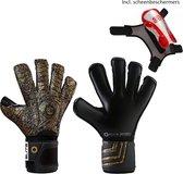 Elite - Aztlan 2020 - Keepershandschoenen - met gratis scheenbeschermers & Elite Andalucia sleutelhanger - maat 8 - voetbal keepershandschoenen - keepershandschoen - Goalkeeper handschoen