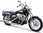 Harley Davidson FXDBI Dyna Street Bob 2006 (Donkerblauw) 1/18 Maisto - Modelmotor - Schaalmodel - Model motor