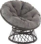 tectake - Ratan fauteuil Gargano zwart - 403552
