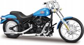 Harley Davidson FXSTB Night Train 2002 (Blauw) 1/18 Maisto - Modelmotor - Schaalmodel - Model motor