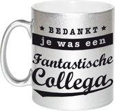 Bedankt je was een fantastische collega de laatste week koffiemok / theebeker - 330 ml - zilverkleurig - carriere switch / VUT / pensioen - bedankt cadeau collega / teamgenoot