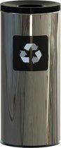 ALDA Prestige Prullenbak 45L zwart, gemakkelijk afval scheiden – recyclen, afvalbakken, vuilnisbak